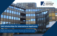Konrad-Adenauer-Stiftung Scholarships for International Applicants in Germany, 2020