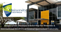 Megan Leane Dietitian funding for Domestic & International Students at Central Queensland University