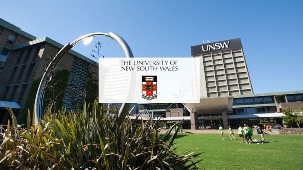 New UNSW international awards at University of New South Wales, 2020