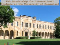PhD funding for International Students at the University of Queensland