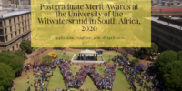 Postgraduate Merit Awards at the University of the Witwatersrand in South Africa, 2020