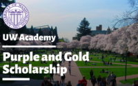 Purple and Gold Scholarship at University of Washington, USA