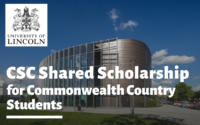 SC Shared funding for Commonwealth Country Students at University of Lincoln, UK