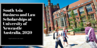 South Asia Business and Law Scholarships at University of Newcastle Australia, 2020