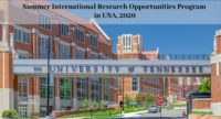 Summer International Research Opportunities Program in USA, 2020