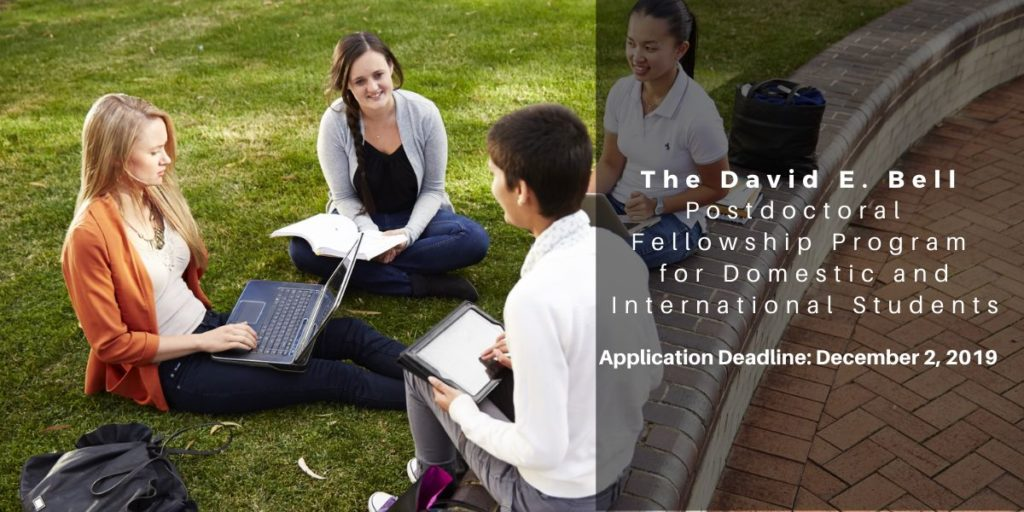 The David E. Bell Postdoctoral Fellowship Program for Domestic and International Students