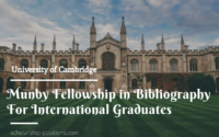 University of Cambridge Munby Fellowship in Bibliography for International Graduates