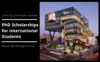 University of Newcastle PhD Positionsfor International Students in Australia