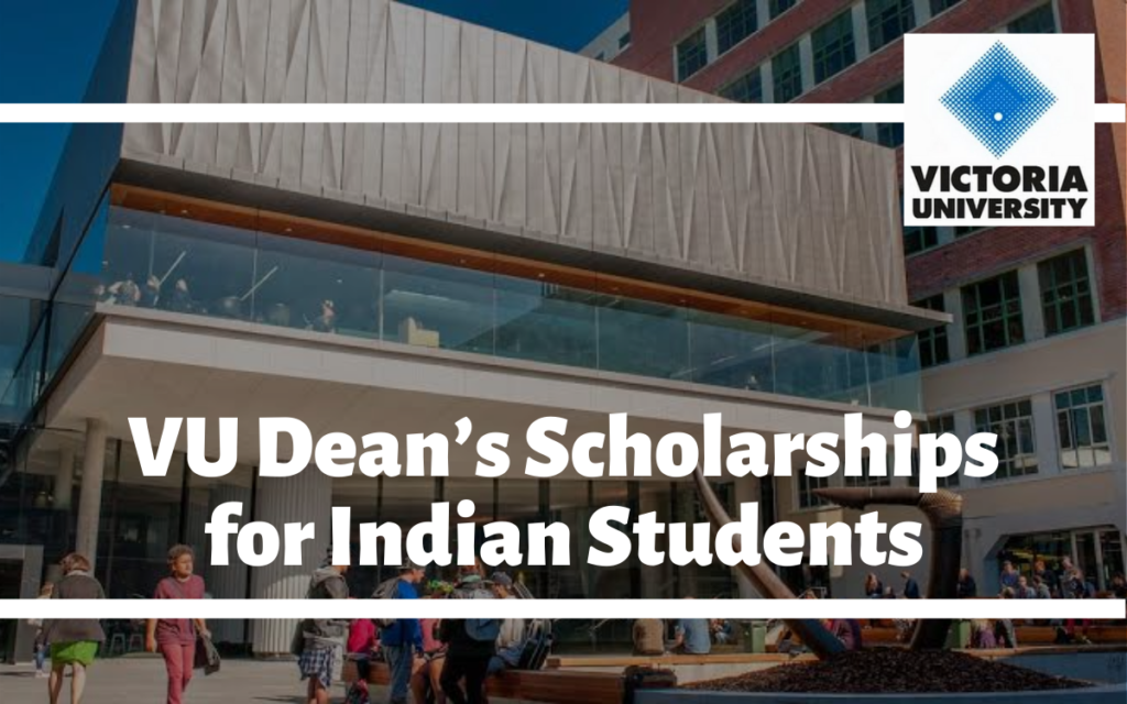 VU Dean's Scholarships for Indian Students at Victoria University, Australia