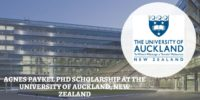 Agnes Paykel PhD Scholarship at the University of Auckland, New Zealand