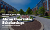 Akron Guarantee funding for International Students in the USA