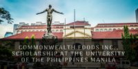 Commonwealth Foods Inc., Scholarship at theUniversity of the Philippines Manila