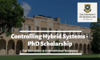 Controlling Hybrid Systems - PhD funding for Domestic and International Students in Australia