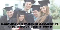 DAAD Graduate (Masters) Scholarships at Busitema University, 2020-21