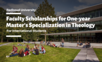 Faculty Scholarships for One-year Master's Specialization in Theology for International Students