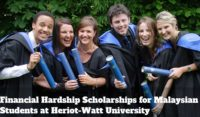Financial Hardship Scholarships for Malaysian Students at Heriot-Watt University