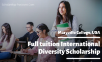 Full tuition International Diversity Scholarship at Maryville College, USA