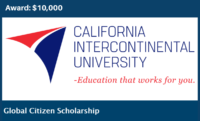 Global Citizen funding for International Students at California Intercontinental University, USA