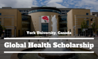 Global Health funding for Domestic and International Students at York University, Canada