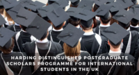 Harding Distinguished Postgraduate Scholars Programme for International Students in the UK