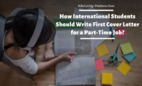 How International Students Should Write First Cover Letter for a Part-Time Job?