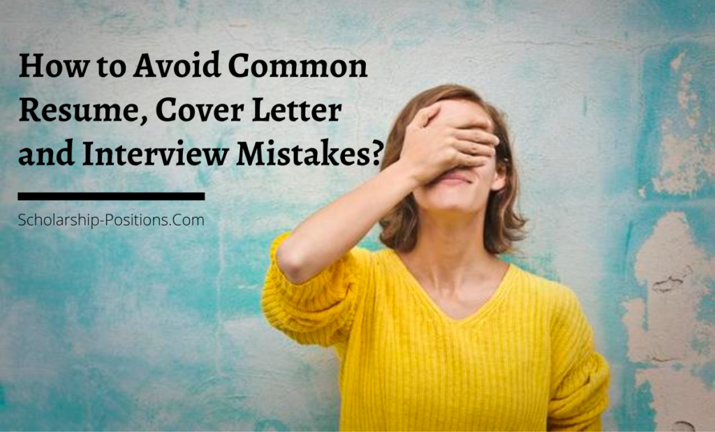 How to Avoid Common Resume, Cover Letter and Interview Mistakes?