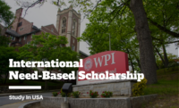 International Need-Based Scholarship at Worcester Polytechnic Institute, USA