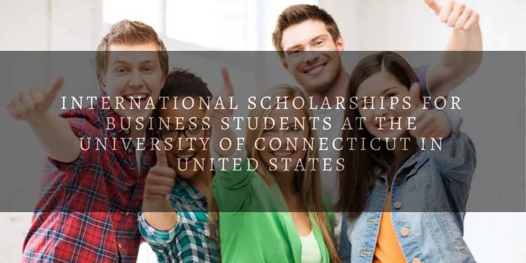international awards for Business Students at the University of Connecticut in United States