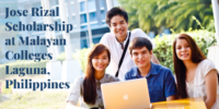 Jose Rizal Scholarship at Malayan Colleges Laguna, Philippines