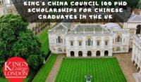 King's China Council 100 PhD Positionsfor Chinese Graduates in the UK