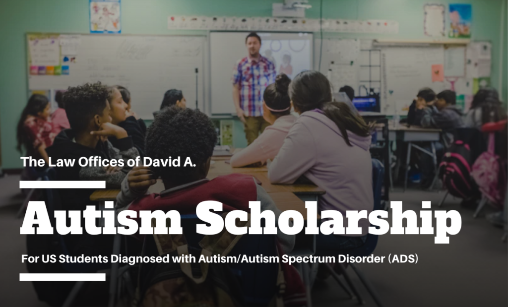 Law Offices of David A. Black 2019 Autism Scholarship