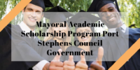 Mayoral Academic program Port Stephens Council Government