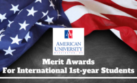 Merit Awards for International 1st-year Students at American University, USA