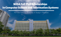 NIDA Full PhD international awards in Computer Science and Information Systems in Thailand