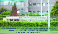 PhD Scholarship in Self Conformable End of Arm Robotic Tooling for International candidates in Ireland