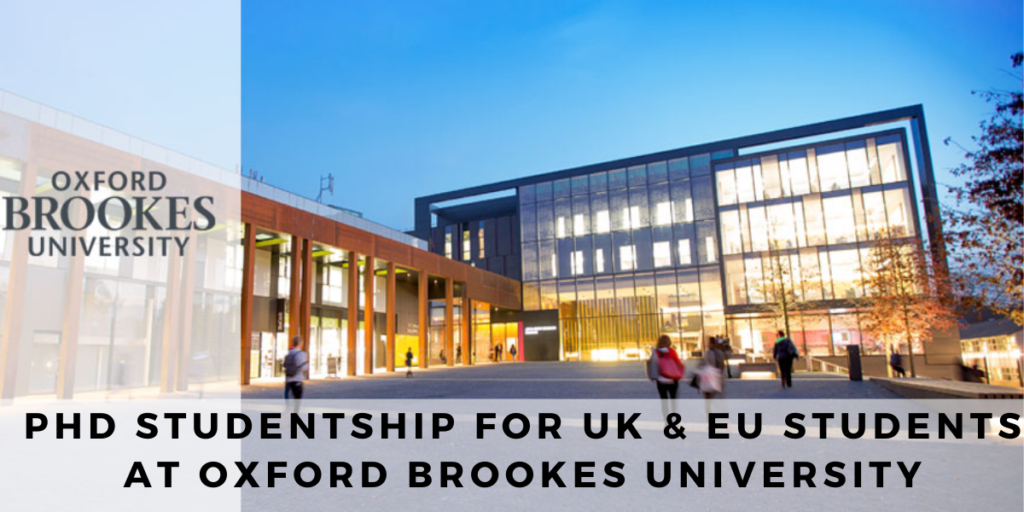 PhD Studentship for UK & EU Students at Oxford Brookes University