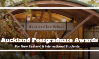 Postgraduate Awards for Domestic and International Students at University of Auckland, New Zealand