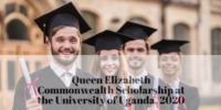 Queen Elizabeth Commonwealth Scholarship at the University of Uganda, 2020