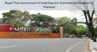 Royal Thai Government Scholarships for International Students in Thailand