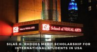 Silas H. Rhodes Merit funding for International Students at School of Visual Arts in the USA