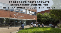 St George's Postgraduate Scholarship Scheme for International Students in the UK