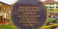 The Jim Ovia Foundation Leaders Scholarship at Ashesi University, Ghana