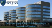 The University of Toledo PhD Fellowship for International Students in USA