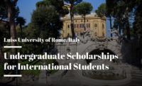 undergraduate financial aid for International Students a Luiss University of Rome, Italy
