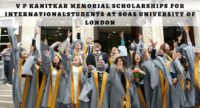 V P Kanitkar Memorial Scholarships for International Students at SOAS University of London