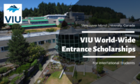 VIU World-Wide Entrance Scholarships for International Students in Canada