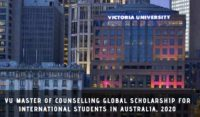 VU Master of Counselling Global funding for International Students in Australia, 2020