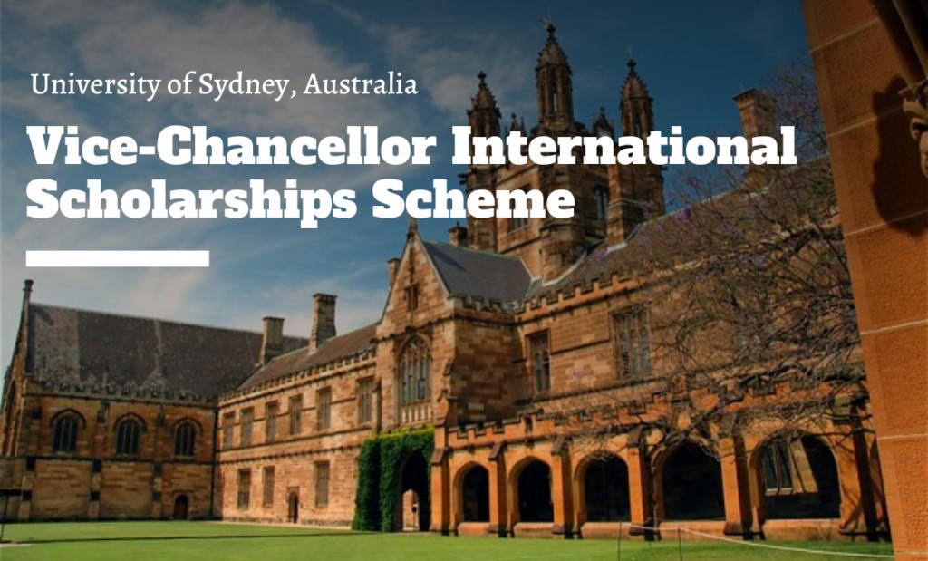 Vice-Chancellor international awards Scheme at University of Sydney, Australia