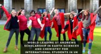 World-Leading St Andrews Scholarship in Earth Sciences and Chemistry for International Students in UK