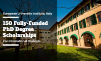 150 Fully-Funded PhD Degree Scholarships at the European University Institute, Italy